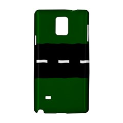 Road Street Green Black White Line Samsung Galaxy Note 4 Hardshell Case by Mariart