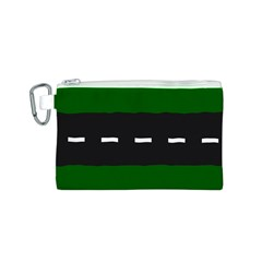 Road Street Green Black White Line Canvas Cosmetic Bag (s) by Mariart
