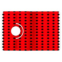 Red White Black Hole Polka Circle Kindle Fire Hdx Flip 360 Case by Mariart