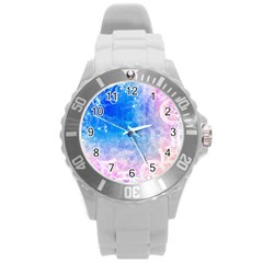 Horoscope Compatibility Love Romance Star Signs Zodiac Round Plastic Sport Watch (l) by Mariart