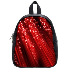 Red Space Line Light Black Polka School Bags (small)  by Mariart