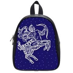 Sagitarius Zodiac Star School Bags (small)  by Mariart