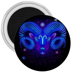 Sign Aries Zodiac 3  Magnets by Mariart