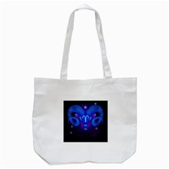 Sign Aries Zodiac Tote Bag (white) by Mariart