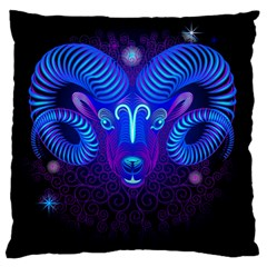 Sign Aries Zodiac Large Flano Cushion Case (one Side) by Mariart