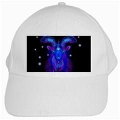 Sign Capricorn Zodiac White Cap by Mariart