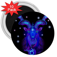 Sign Capricorn Zodiac 3  Magnets (10 Pack)  by Mariart
