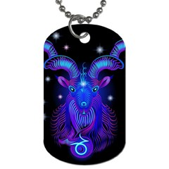 Sign Capricorn Zodiac Dog Tag (one Side) by Mariart
