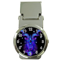 Sign Capricorn Zodiac Money Clip Watches by Mariart