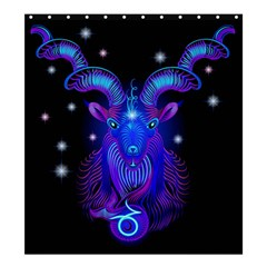 Sign Capricorn Zodiac Shower Curtain 66  X 72  (large)  by Mariart