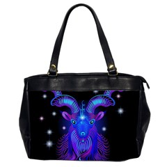 Sign Capricorn Zodiac Office Handbags (2 Sides)  by Mariart