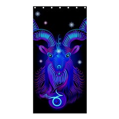 Sign Capricorn Zodiac Shower Curtain 36  X 72  (stall)  by Mariart