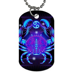 Sign Cancer Zodiac Dog Tag (two Sides) by Mariart