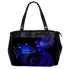 Sign Aquarius Zodiac Office Handbags by Mariart