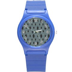 Star Space Black Grey Blue Sky Round Plastic Sport Watch (s) by Mariart