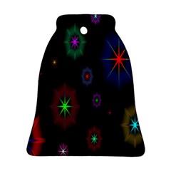 Star Space Galaxy Rainboiw Circle Wave Chevron Ornament (bell) by Mariart