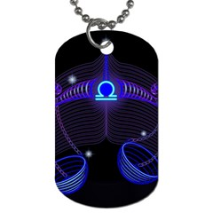 Sign Libra Zodiac Dog Tag (two Sides) by Mariart
