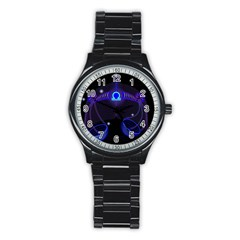 Sign Libra Zodiac Stainless Steel Round Watch by Mariart