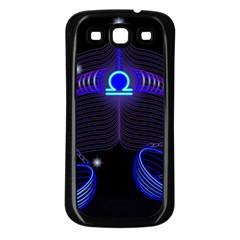 Sign Libra Zodiac Samsung Galaxy S3 Back Case (black) by Mariart