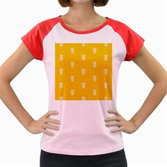 Waveform Disco Wahlin Retina White Yellow Vertical Women s Cap Sleeve T Shirt by Mariart