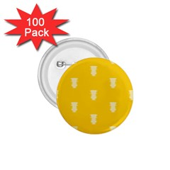 Waveform Disco Wahlin Retina White Yellow Vertical 1 75  Buttons (100 Pack)  by Mariart