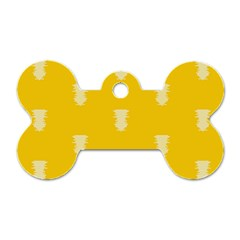 Waveform Disco Wahlin Retina White Yellow Vertical Dog Tag Bone (two Sides) by Mariart