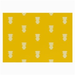 Waveform Disco Wahlin Retina White Yellow Vertical Large Glasses Cloth by Mariart