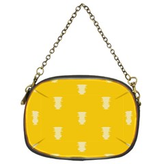 Waveform Disco Wahlin Retina White Yellow Vertical Chain Purses (two Sides)  by Mariart