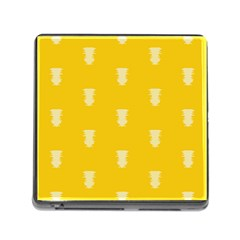 Waveform Disco Wahlin Retina White Yellow Vertical Memory Card Reader (square) by Mariart
