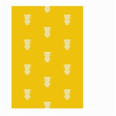 Waveform Disco Wahlin Retina White Yellow Vertical Large Garden Flag (two Sides) by Mariart