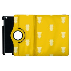 Waveform Disco Wahlin Retina White Yellow Vertical Apple Ipad 2 Flip 360 Case by Mariart