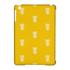Waveform Disco Wahlin Retina White Yellow Vertical Apple Ipad Mini Hardshell Case (compatible With Smart Cover) by Mariart