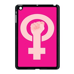 Women Safety Feminist Nail Strong Pink Circle Polka Apple Ipad Mini Case (black) by Mariart