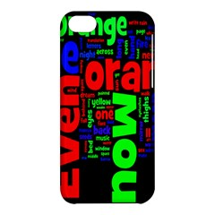 Writing Color Rainbow Apple Iphone 5c Hardshell Case by Mariart
