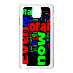Writing Color Rainbow Samsung Galaxy Note 3 N9005 Case (white) by Mariart