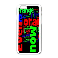 Writing Color Rainbow Apple Iphone 6/6s White Enamel Case by Mariart