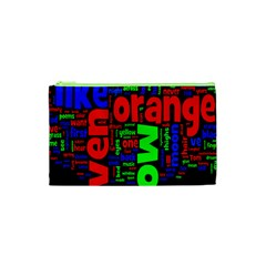 Writing Color Rainbow Cosmetic Bag (xs) by Mariart