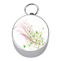 Sunflower Flower Floral Leaf Line Wave Chevron Pink Mini Silver Compasses by Mariart