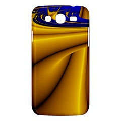 Waves Wave Chevron Gold Blue Paint Space Sky Samsung Galaxy Mega 5 8 I9152 Hardshell Case  by Mariart