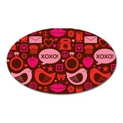 Xoxo! Oval Magnet by Nexatart