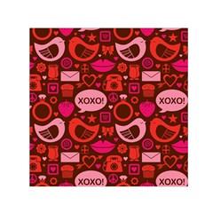 Xoxo! Small Satin Scarf (square) by Nexatart