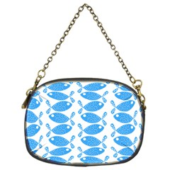 Fish Pattern Background Chain Purses (two Sides)  by Nexatart