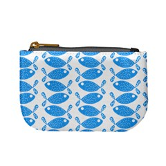 Fish Pattern Background Mini Coin Purses by Nexatart