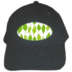 Spring Pattern Black Cap by Nexatart