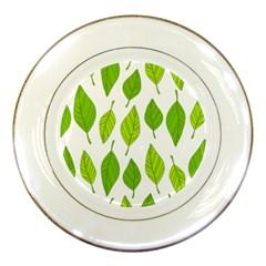 Spring Pattern Porcelain Plates by Nexatart