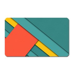 Color Schemes Material Design Wallpaper Magnet (rectangular) by Nexatart