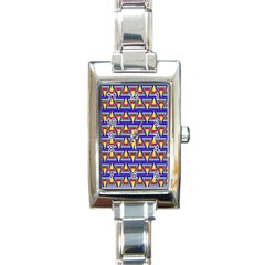 Seamless Prismatic Pythagorean Pattern Rectangle Italian Charm Watch