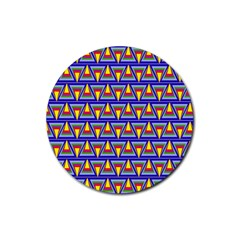 Seamless Prismatic Pythagorean Pattern Rubber Round Coaster (4 Pack)  by Nexatart