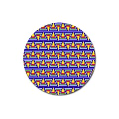Seamless Prismatic Pythagorean Pattern Magnet 3  (round) by Nexatart