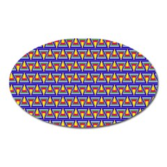 Seamless Prismatic Pythagorean Pattern Oval Magnet by Nexatart